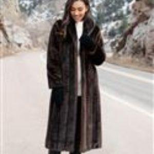 Olympia Faux Fur Winter Coat Full-length (XL)